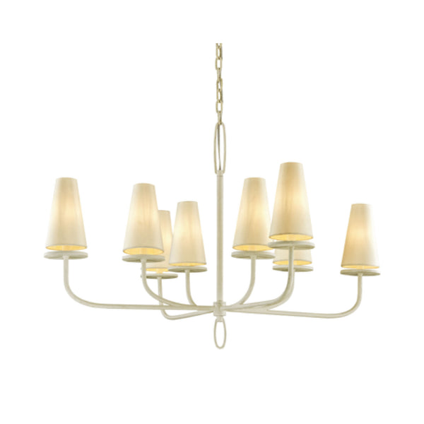 Rosecliff Chandelier in Cream - Large