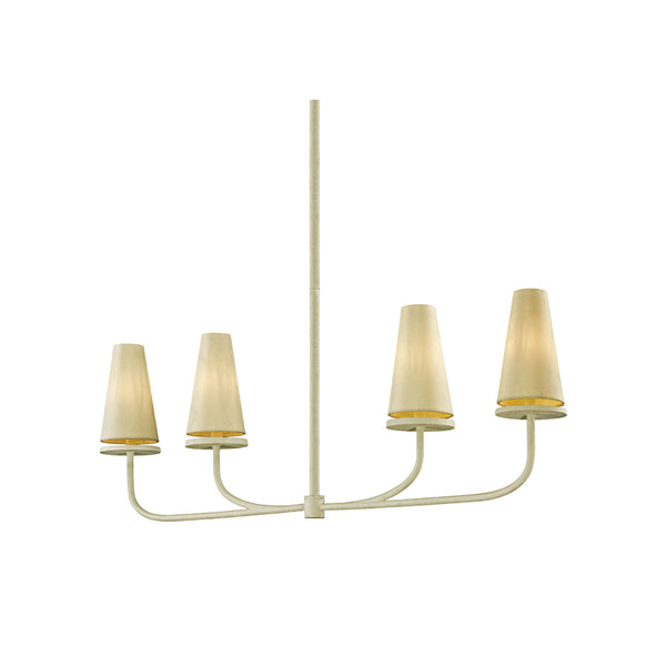 Rosecliff Linear Chandelier in Cream