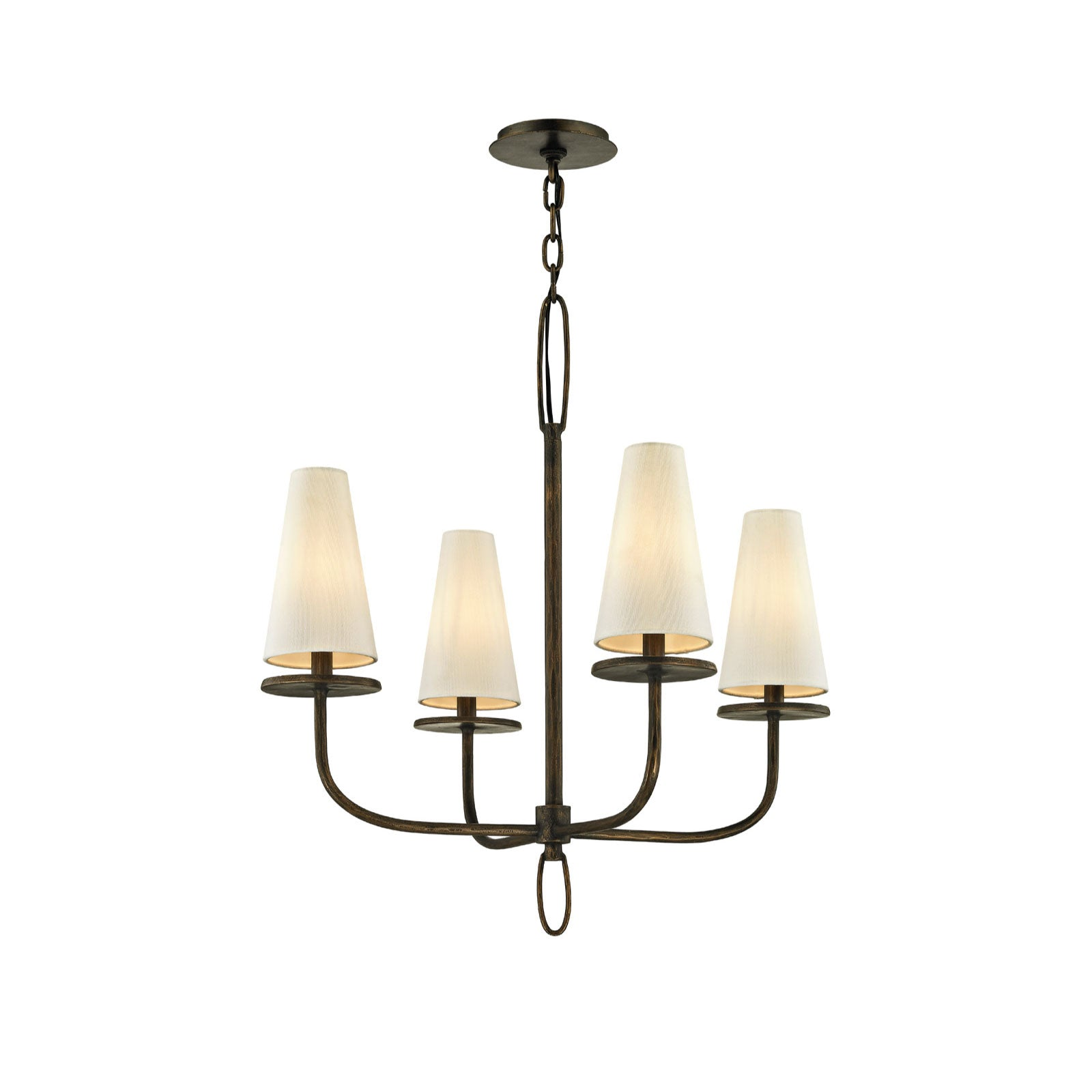 Rosecliff Chandelier in Bronze - Small