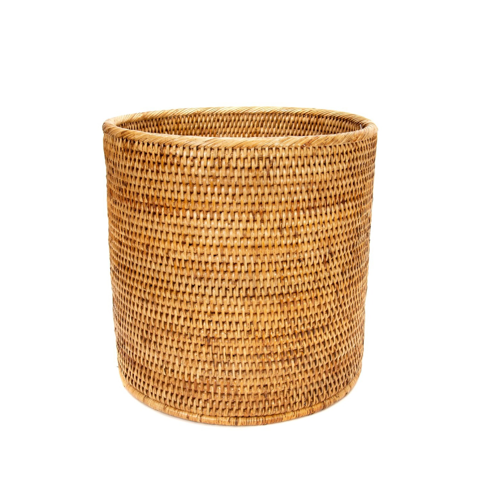 Round Wastebasket in Honey