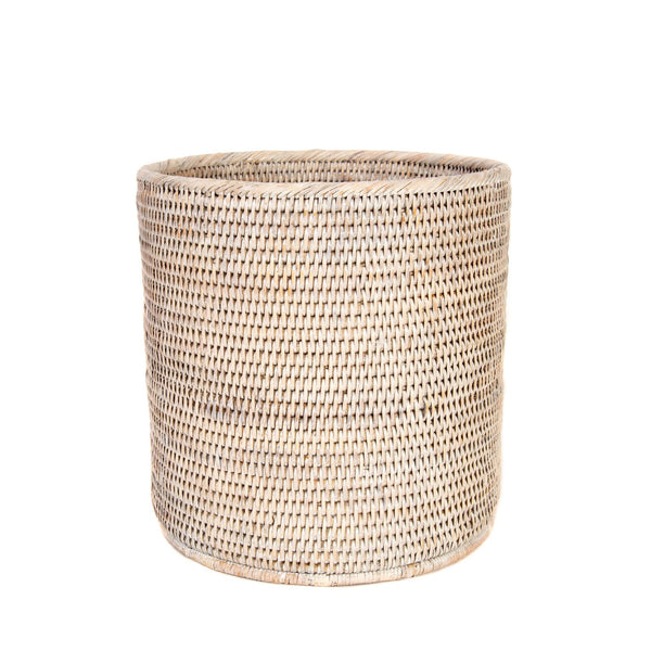 Round Wastebasket in White