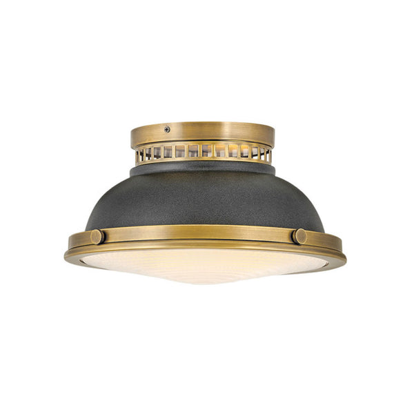 Rowan Flush Mount in Brass and Zinc