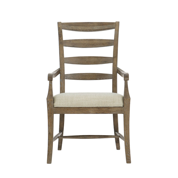 Ladder Back Arm Chair in Medium Oak