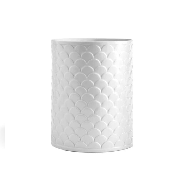 Scalloped Wastebasket