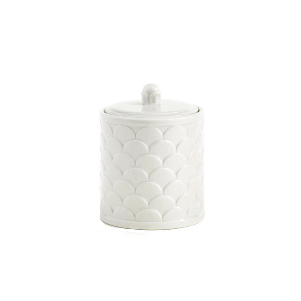 Scalloped Cotton Jar