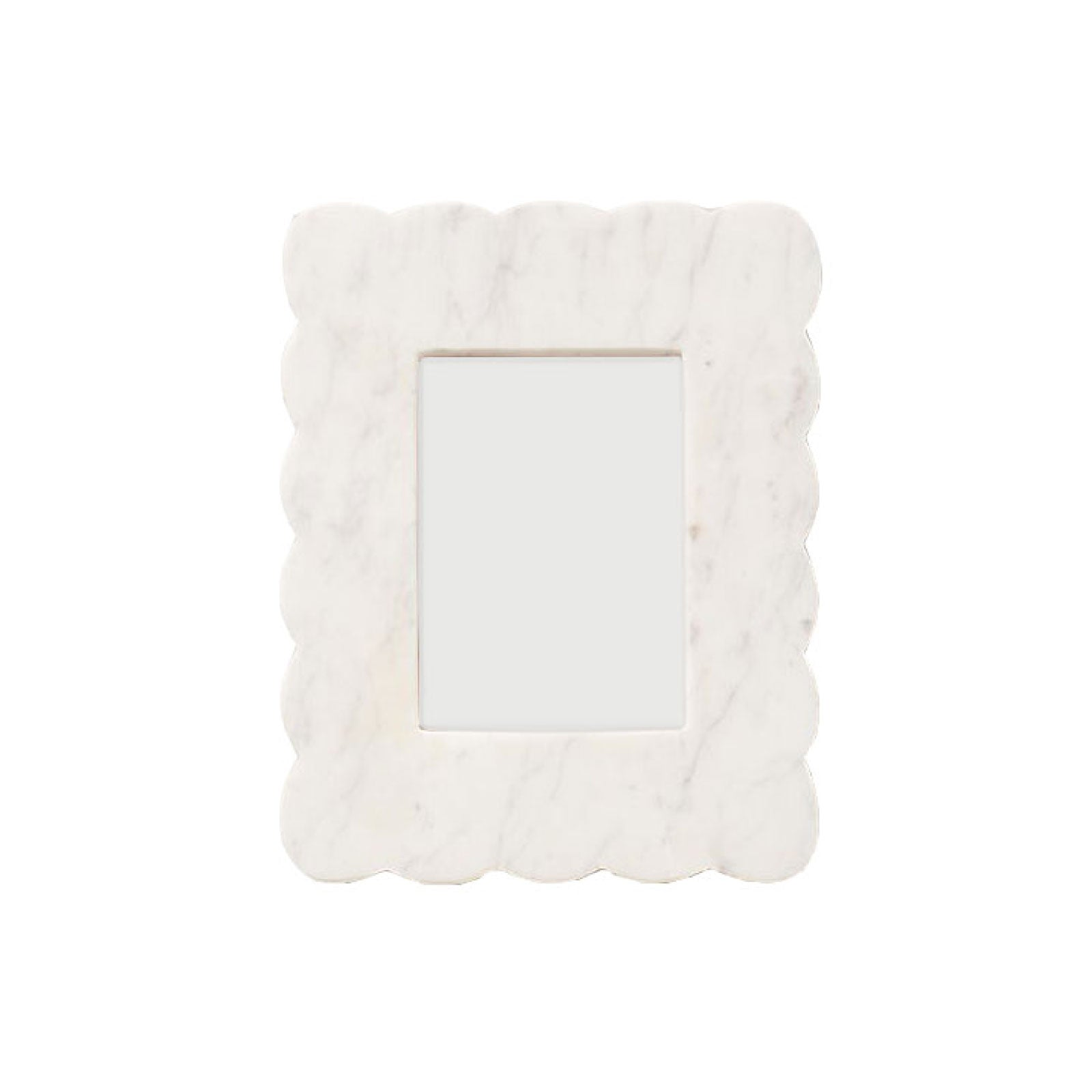 Scalloped Marble Frame