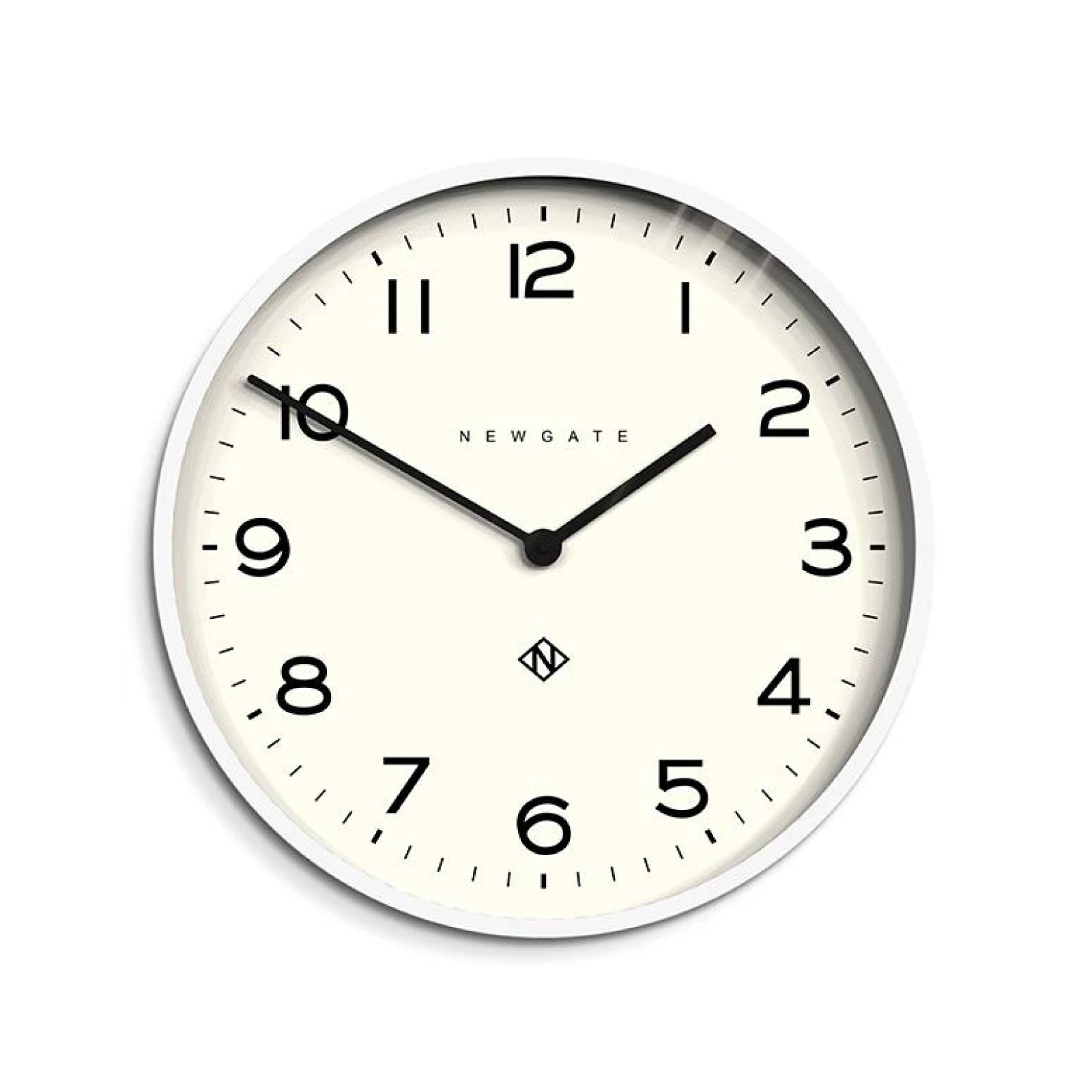 Schoolhouse Wall Clock in White