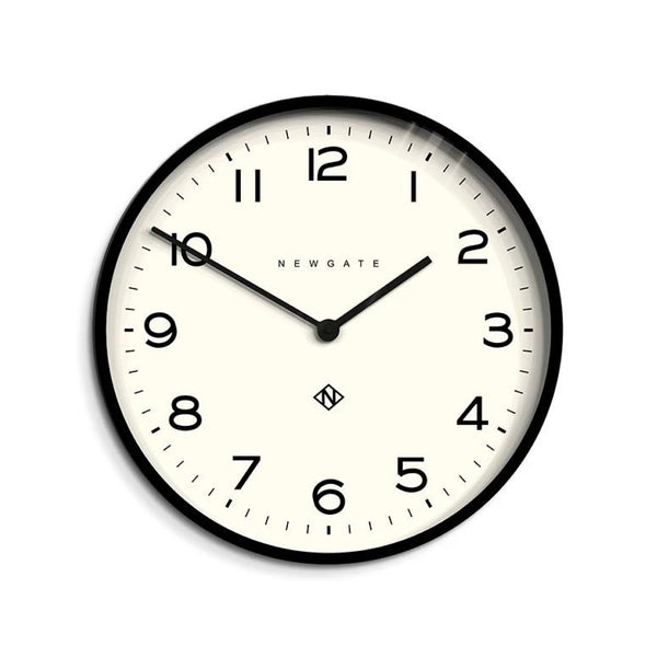 Schoolhouse Wall Clock in Black