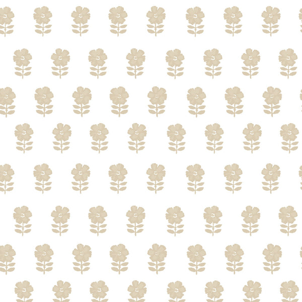 Lulu Floral Fabric in Natural