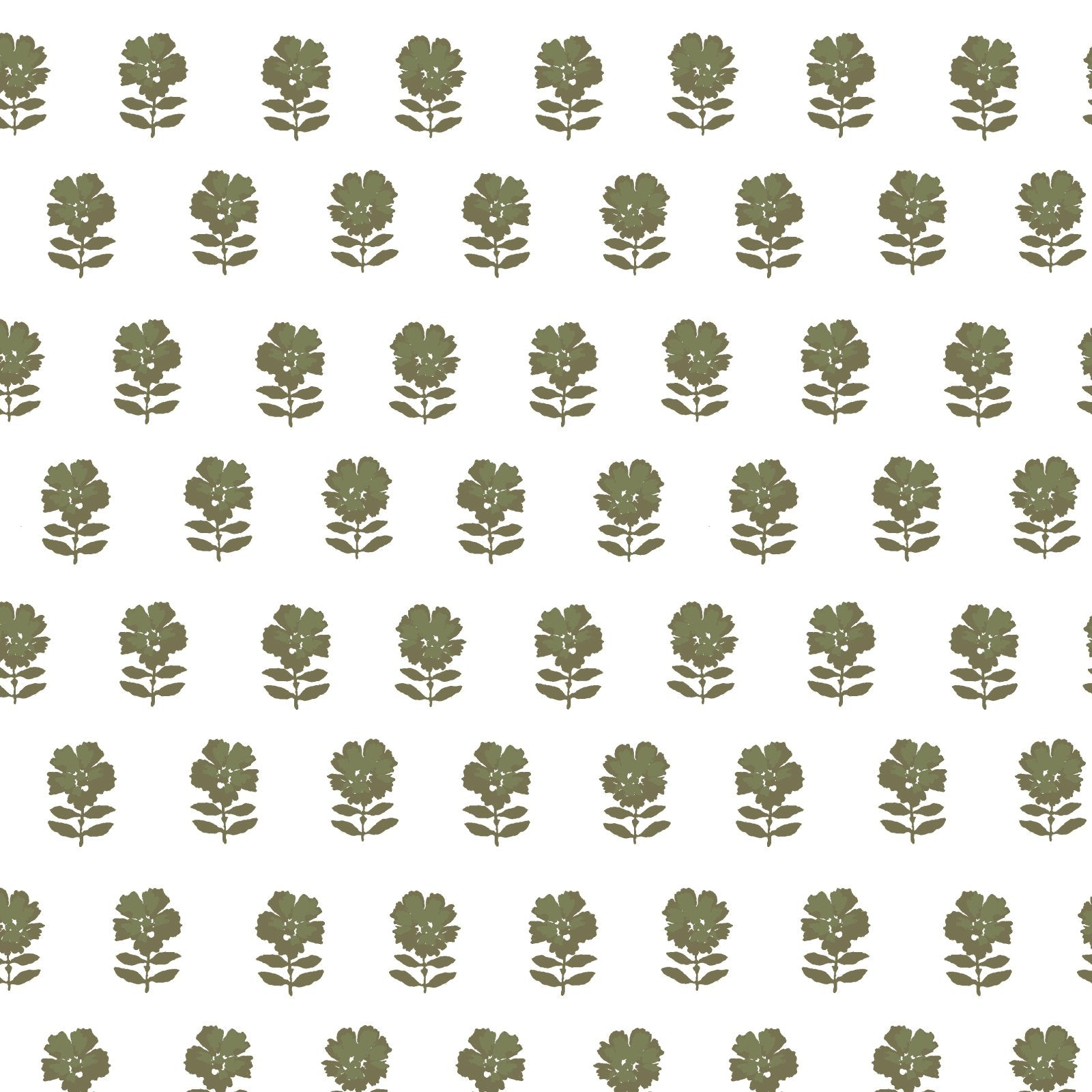 Lulu Floral Fabric in Olive