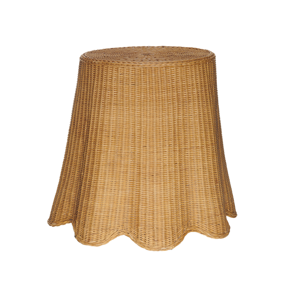 Vintage Skirted Wicker Table