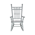 Collected Grey Spool Rocking Chair