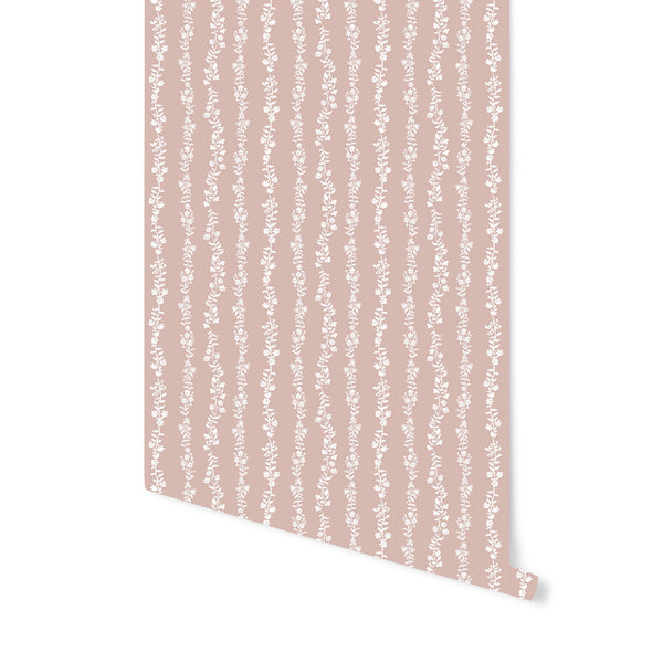 Somerset Wallpaper in Soft Coral