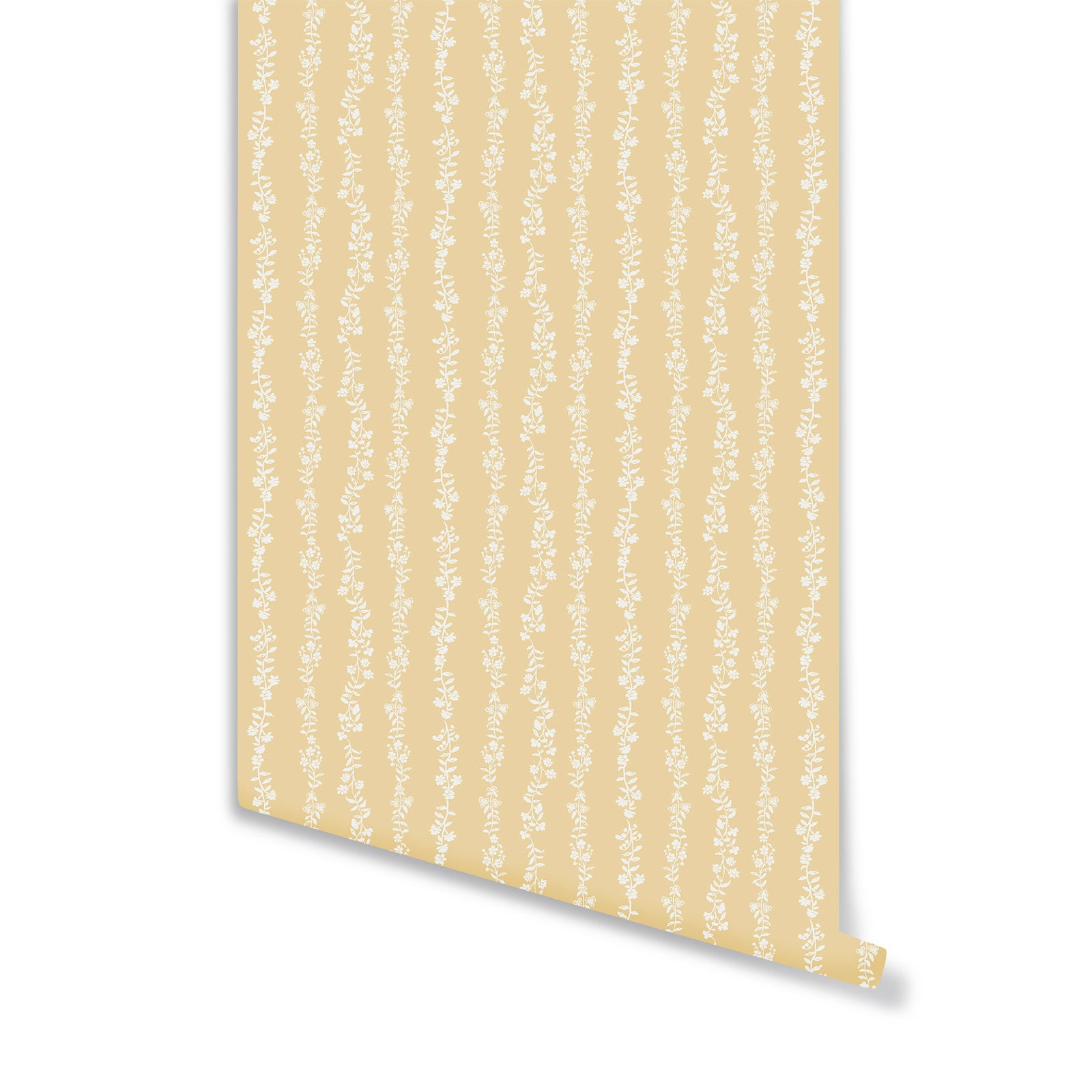 Somerset Stripe Wallpaper in Honey
