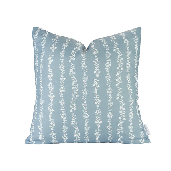 Somerset Pillow in Dusty Blue