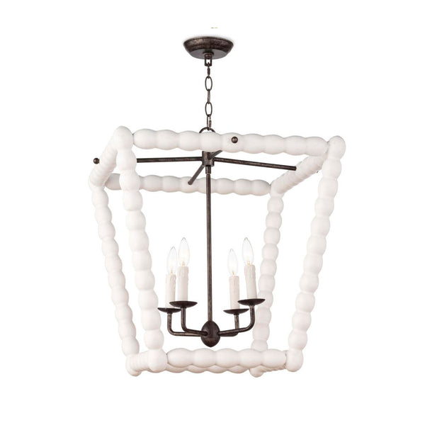 Spool Lantern in Beach White