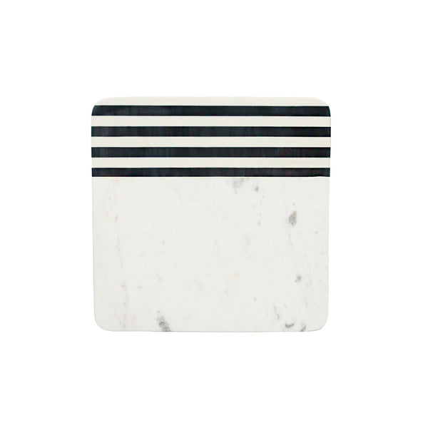 Square Striped Marble Cutting Board
