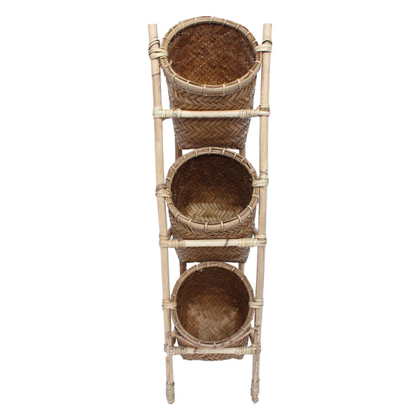 Standing Wicker Basket Set