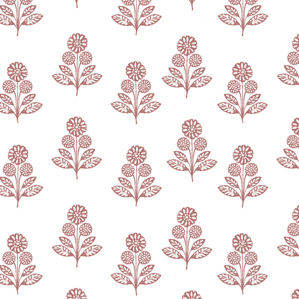 Stella Floral Fabric in Rose