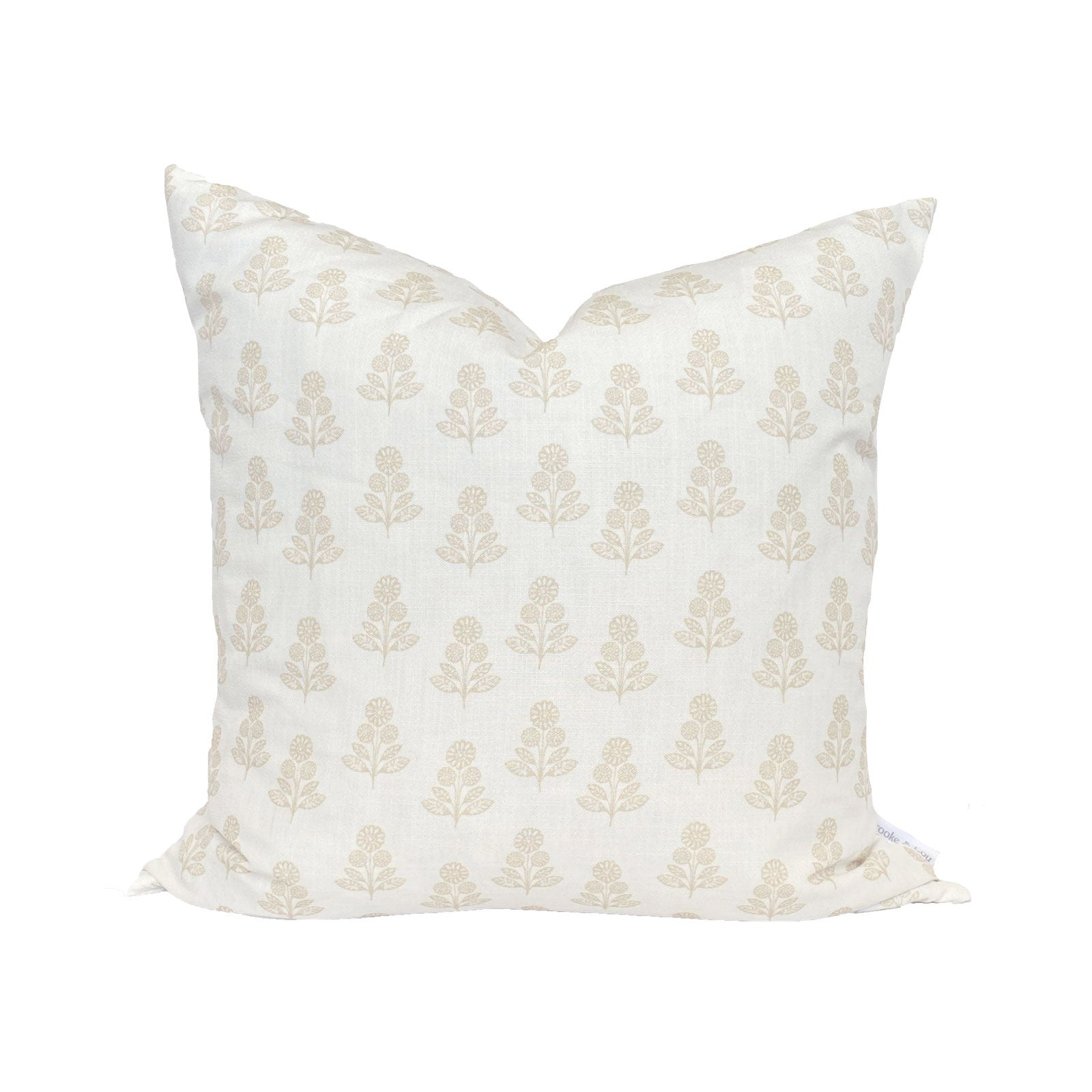 Stella Floral Pillow in Natural