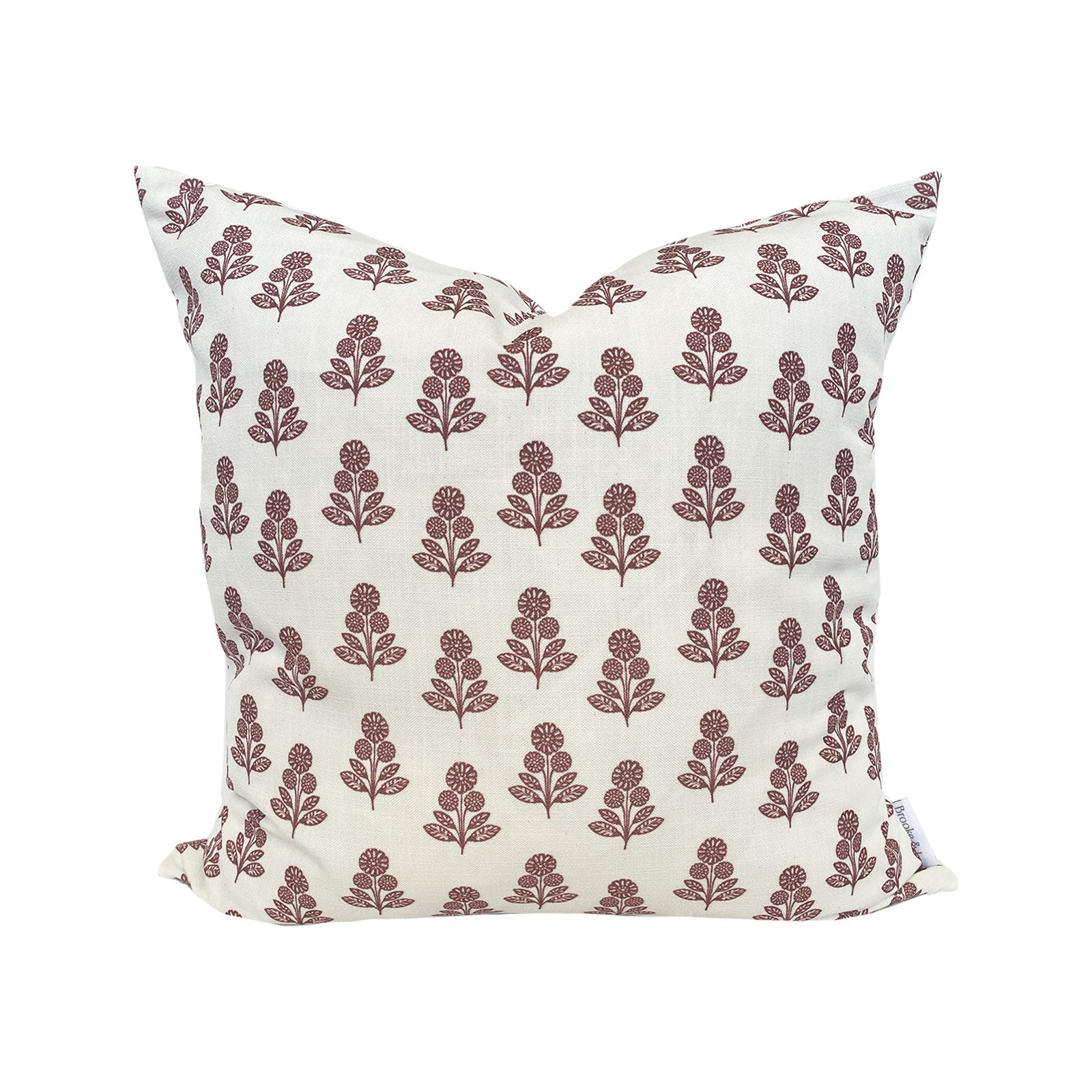 Stella Floral Pillow in Ruby