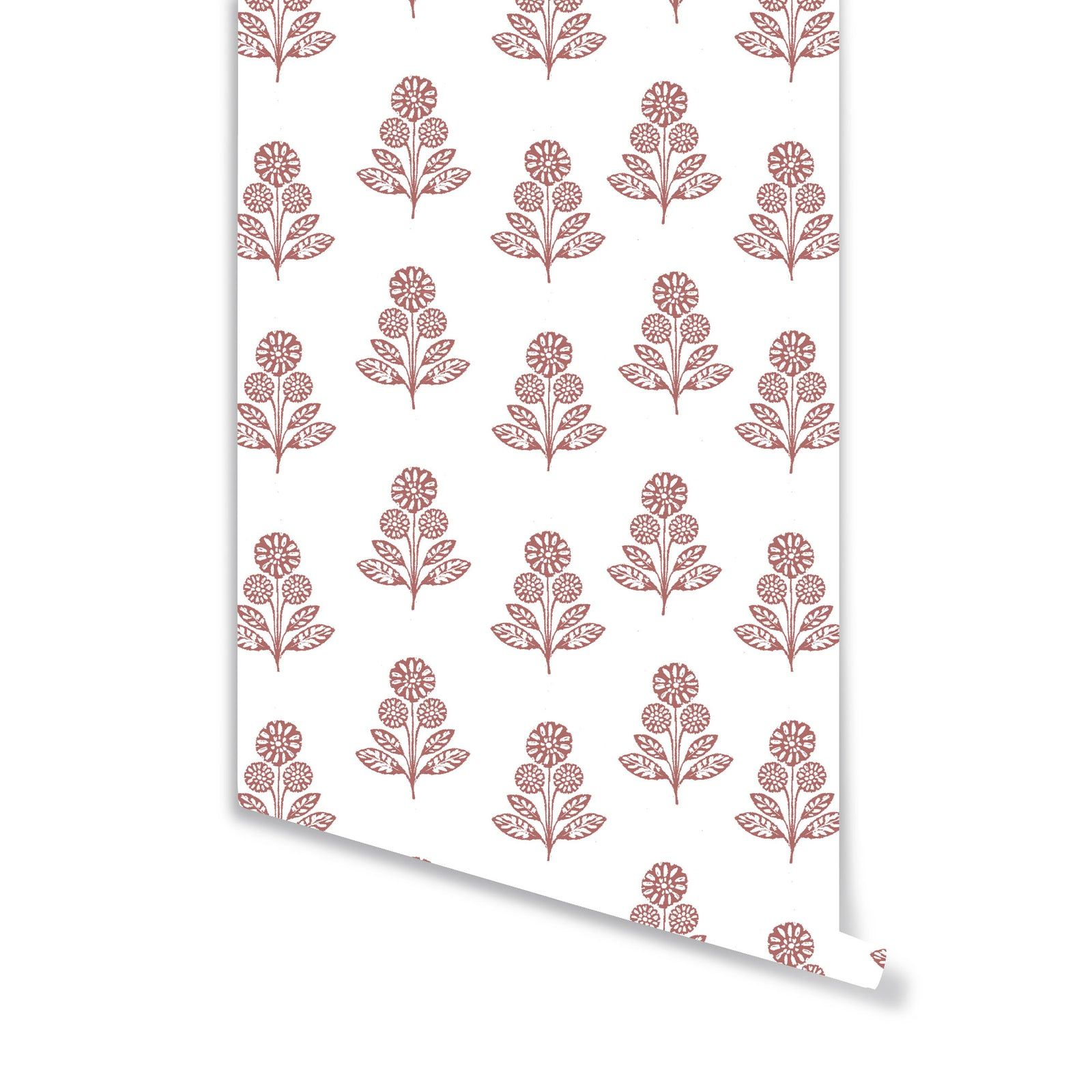 Stella Floral Wallpaper in Rose