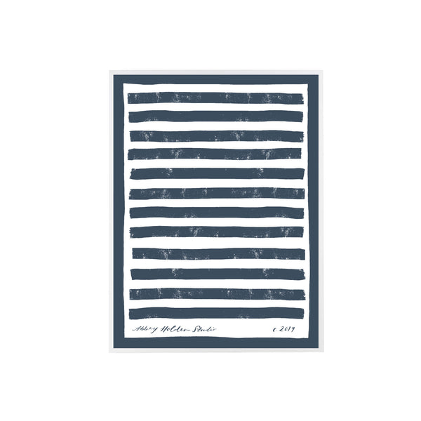 Border Stripe Art in Navy