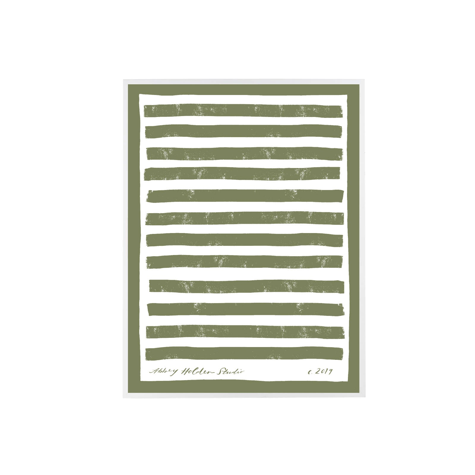 Border Stripe Art in Sage