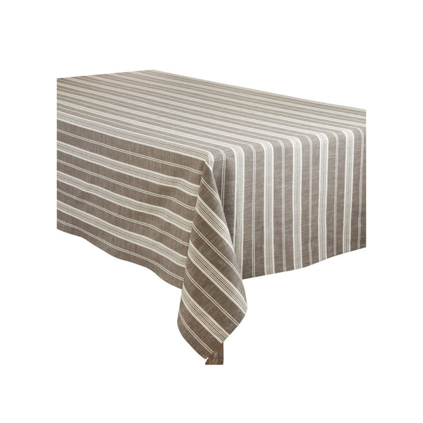 Grey Stripe Tablecloth