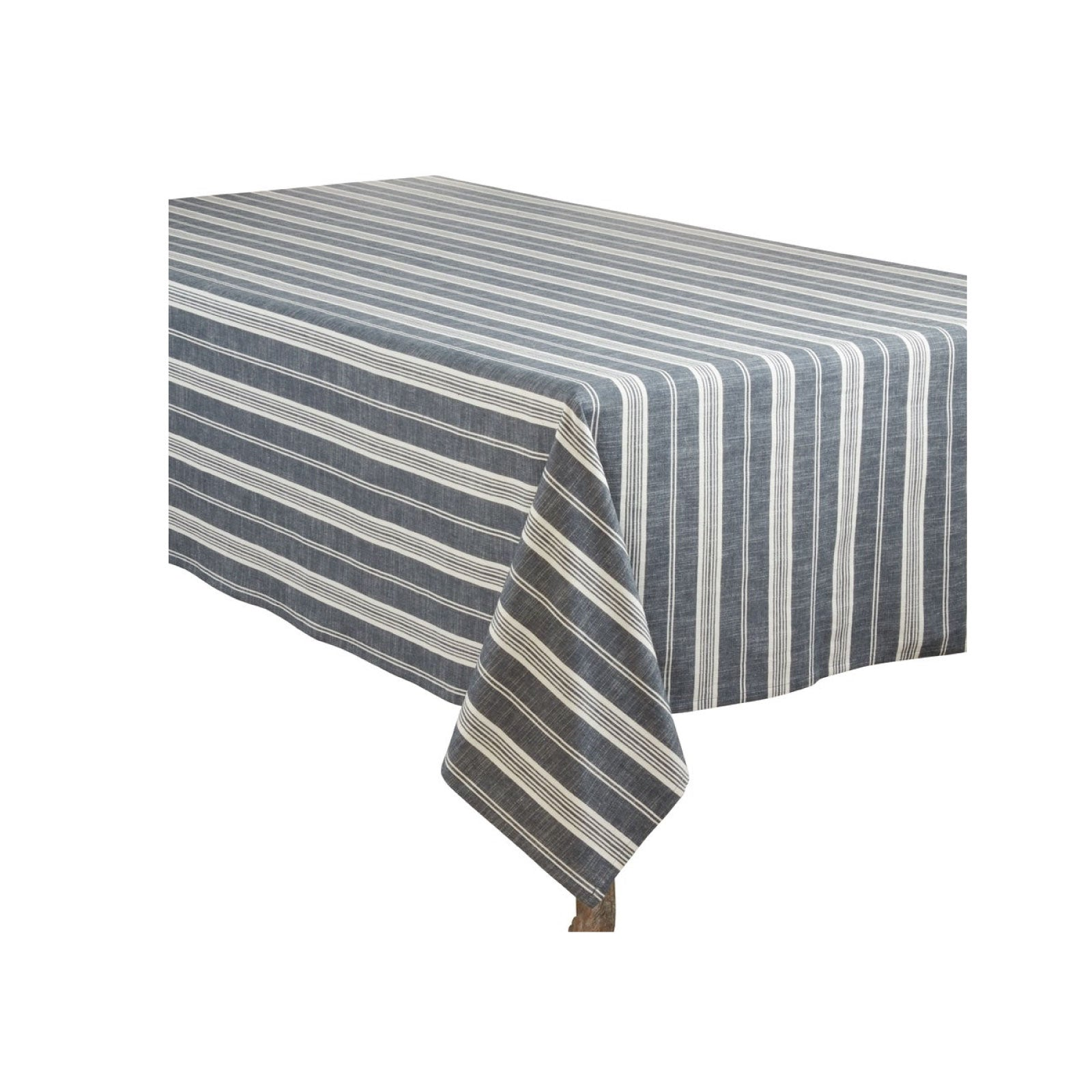 Navy Stripe Tablecloth