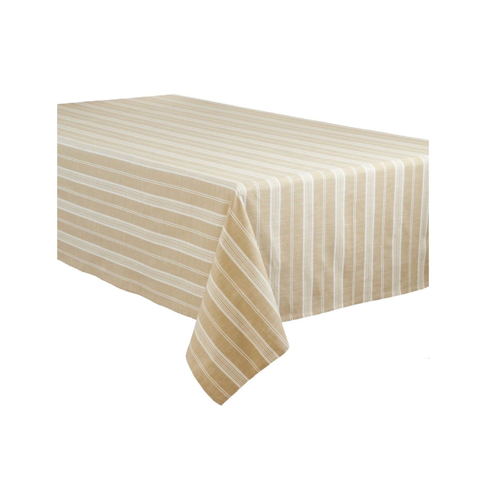 Khaki Stripe Tablecloth