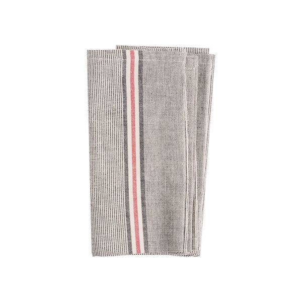 Striped Grey Dinner Napkin set of Four