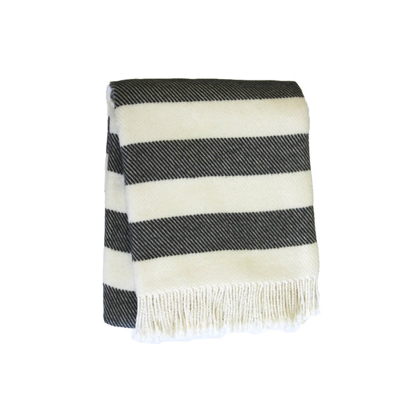 Cabana Stripe Throw in Charcoal