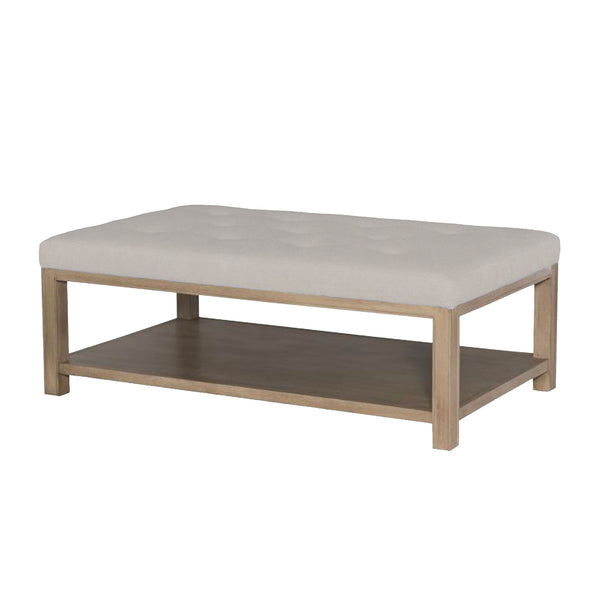 Tomi Cocktail Ottoman in Blonde Oak