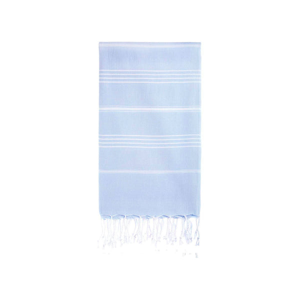 Turkish Striped Hand Towel- Cornflower