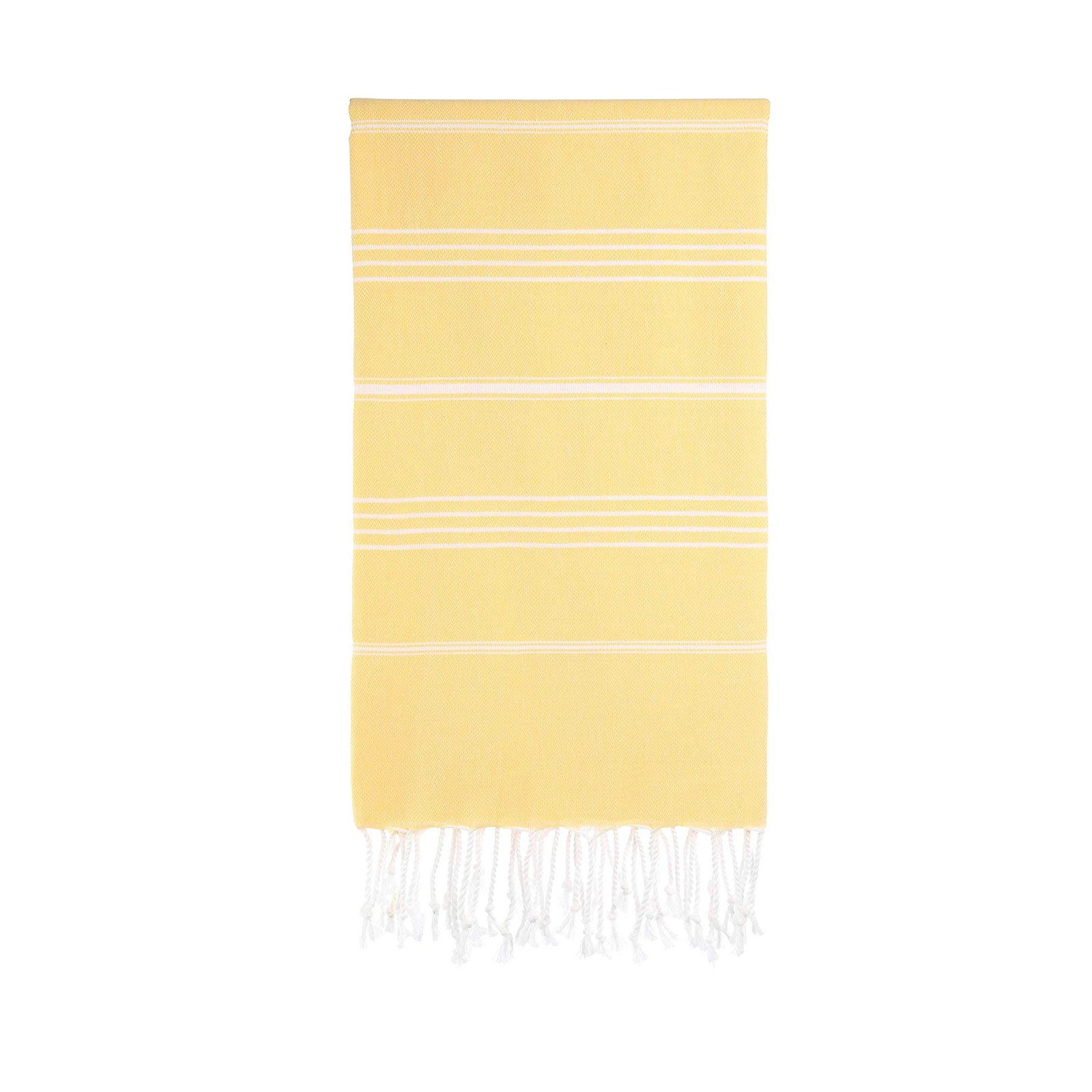 Turkish Striped Hand Towel- Lemon