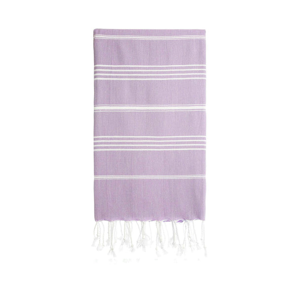 Turkish Striped Hand Towel- Lilac