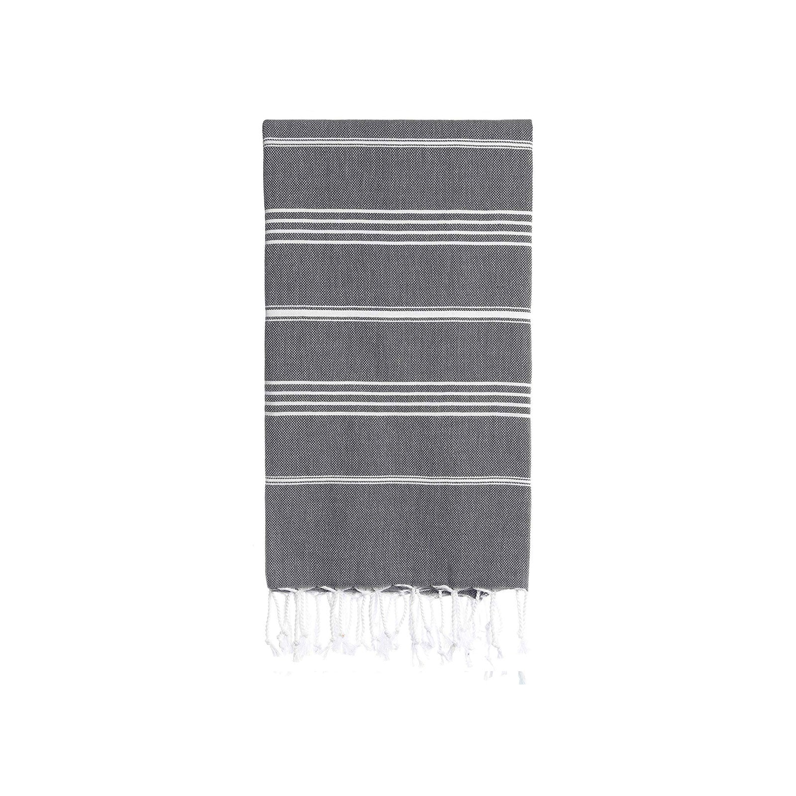 Turkish Striped Hand Towel- Onyx