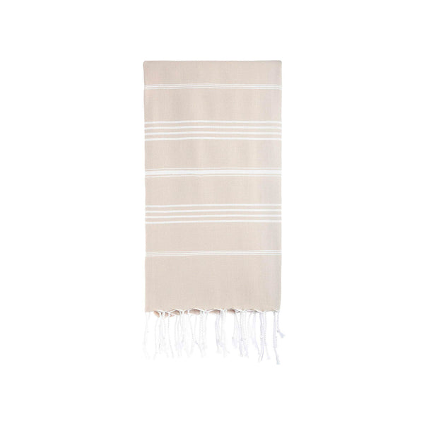 Turkish Striped Hand Towel- Taupe