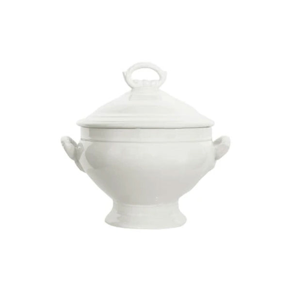 Vintage White Soup Tureen