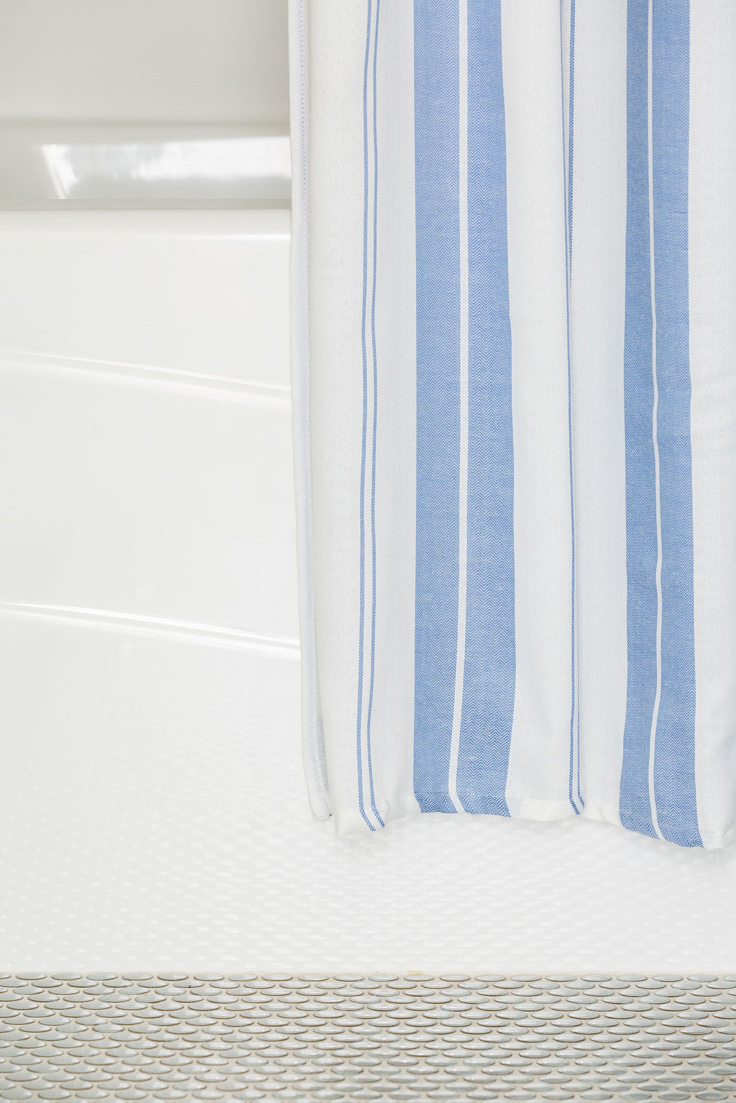 Vertical Stripe Shower Curtain with Liner