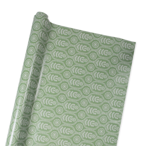 Ella Wrapping Paper in Frosted Green