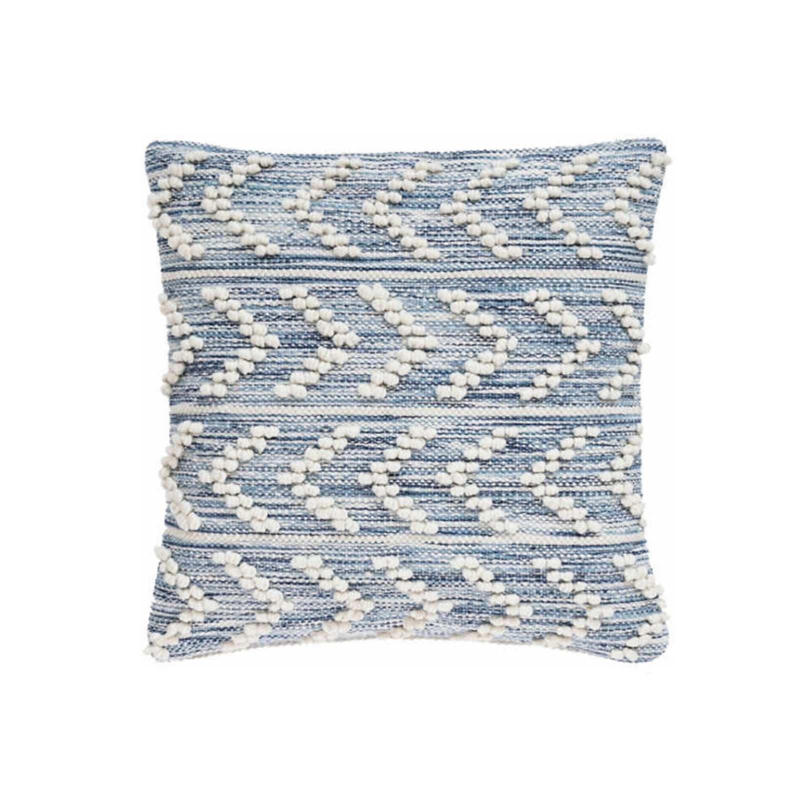 Walter Herringbone Indoor Outdoor Pillow in Blue