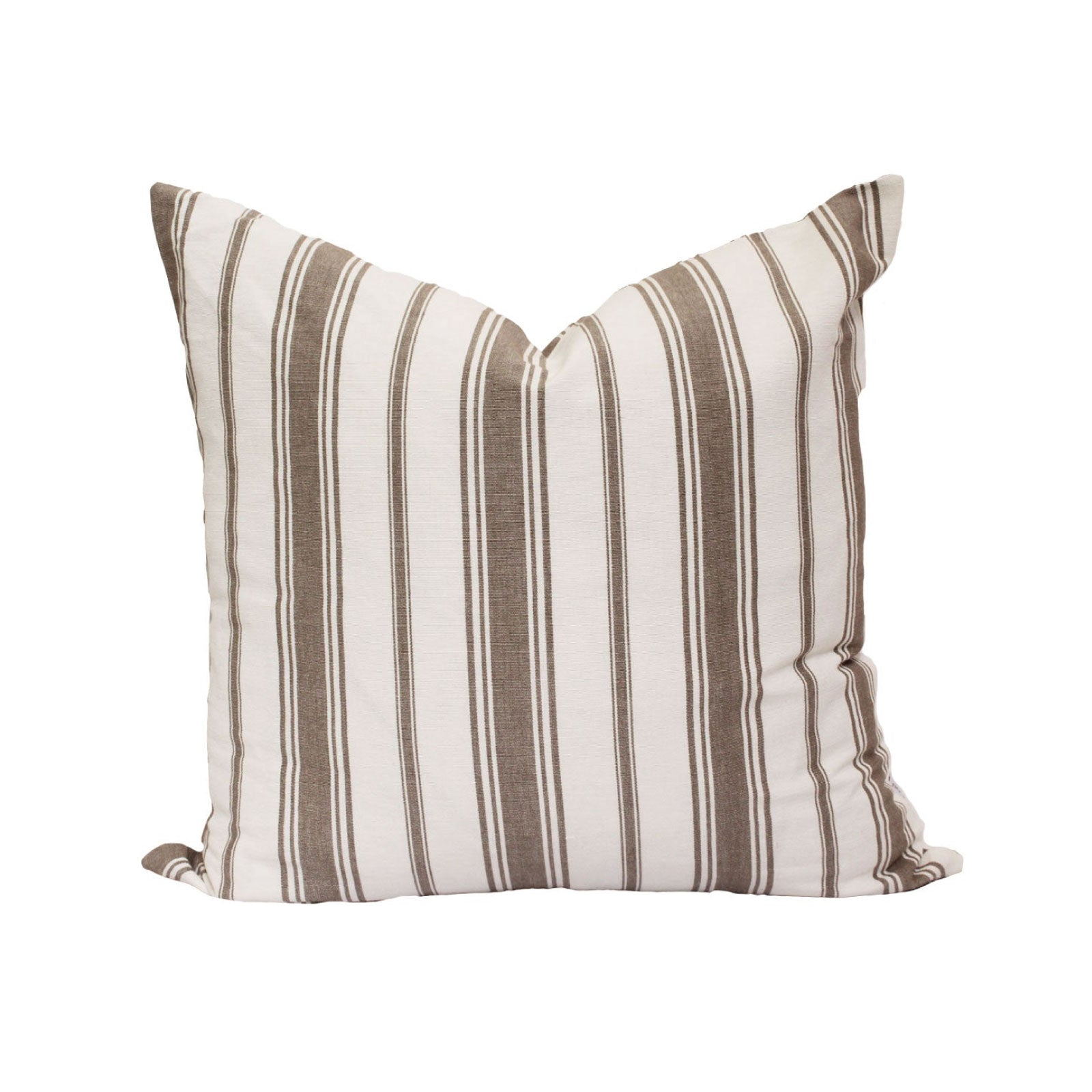 Wentworth Stripe Pillow in Warm Grey