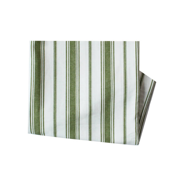 Wentworth Stripe Tablecloth in Olive