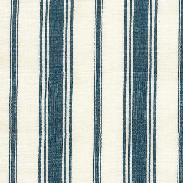 Wentworth Stripe Fabric in Navy
