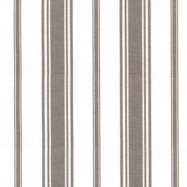 Wentworth Stripe Fabric in Warm Grey