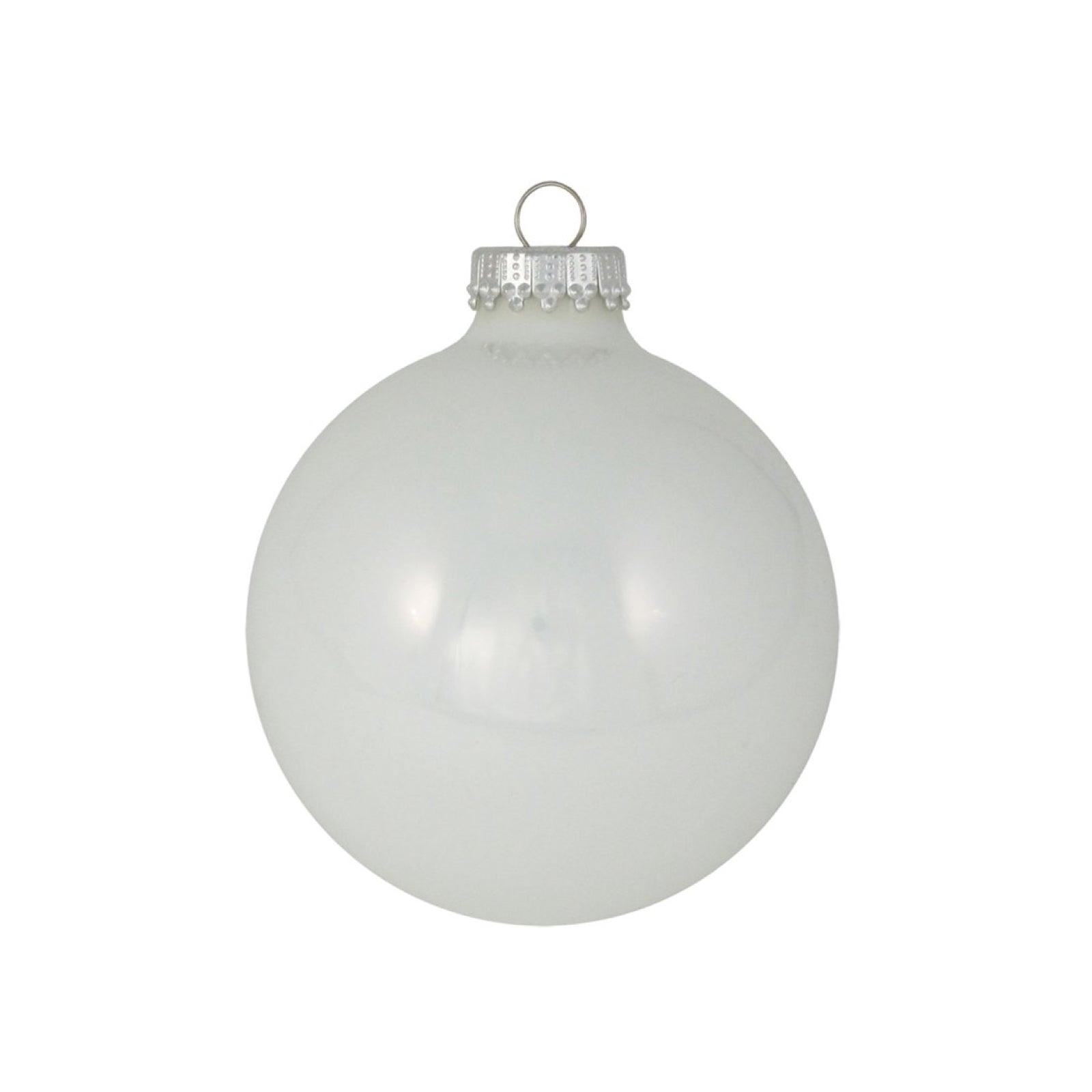 White Glass Ornament Set