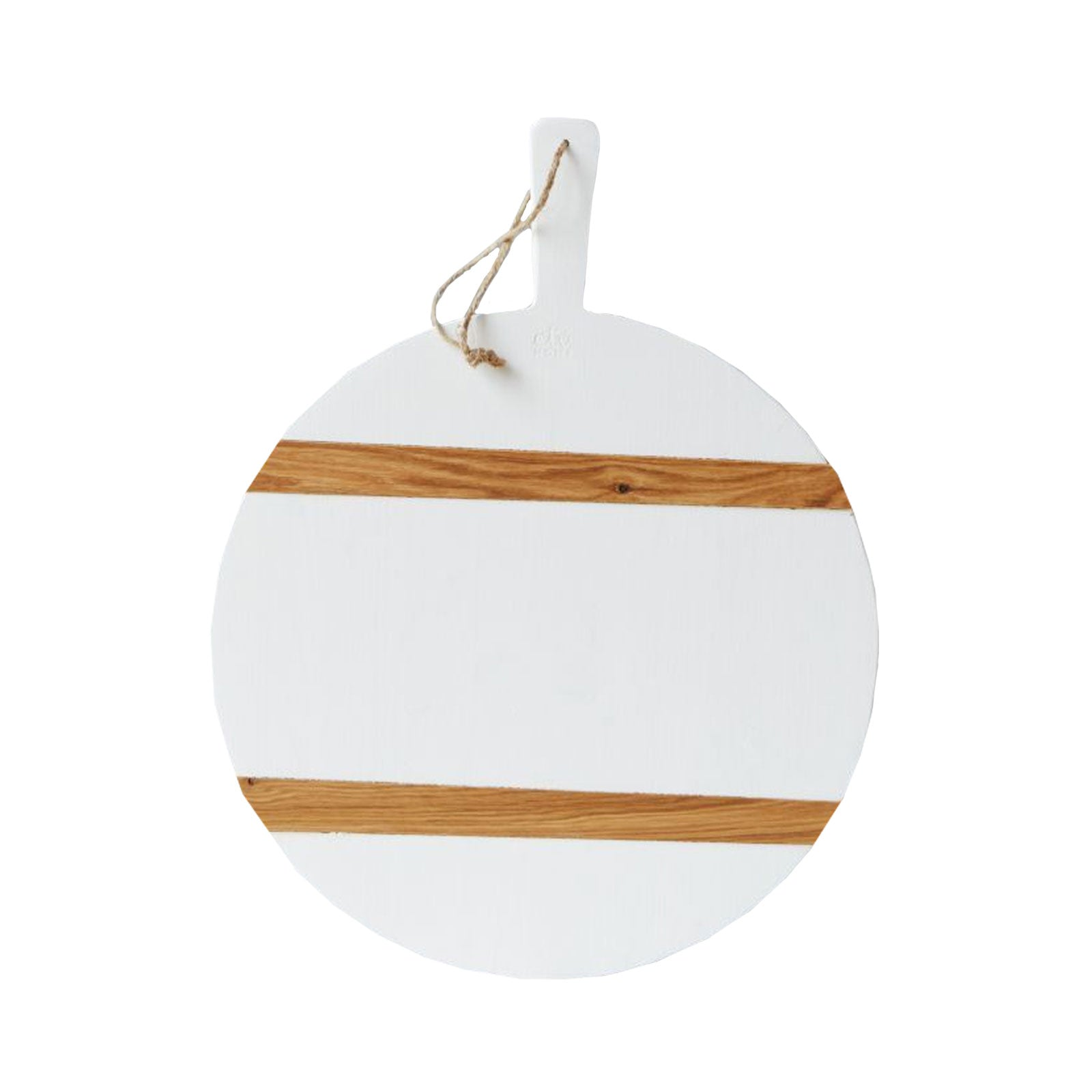 White and Natural Round Cheese Board