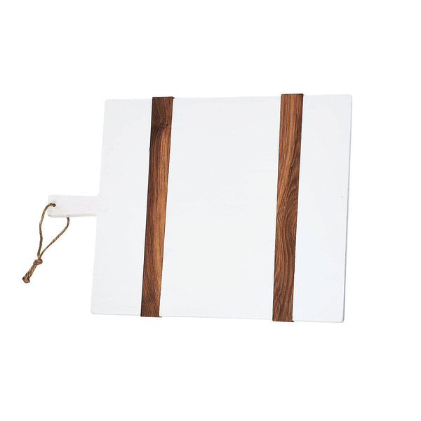 White and Natural Rectangle Cheese Board